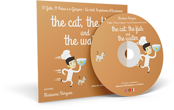 The Cat, the Fish and the Waiter (English, Portuguese and French Edition)