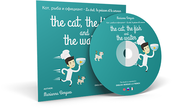 The Cat, the Fish and the Waiter (English, Russian and French Edition)